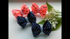 Бантики из репсовых лент 2,5 см. МК Канзаши / The bow of REP ribbons 2.5...