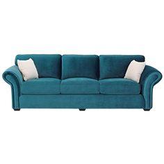 Domayne Tiffany 3.5 Seater Velvet Sofa Lounge ... want!