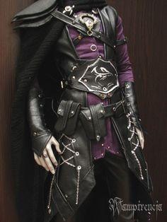 characterdesigninspiration: Dark elf outfit - closeup by wampirencja Fantasy Costumes, Cosplay Costumes, Elf Costume, Anime Outfits, Fashion Outfits, Elf Makeup, Drugstore Makeup, Armor Clothing, Elf Clothes