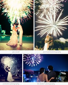 Sure a sparkler exit makes for a fun and beautiful ending to your wedding...but #fireworks make the ultimate #wedding exit!