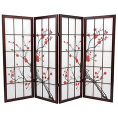 Japanese Cherry Blossom Screen - could use as a backdrop for the reception at the food table. Then keep and use later to decorate in the house
