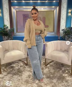 The Real Talk Show, Grown Women, Bell Bottom Jeans, Mom Jeans, Chic, Fitness, Pants, Outfits, Style