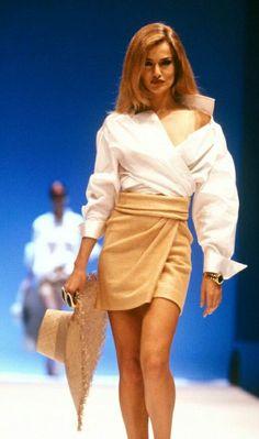 Karen Mulder. For Gianfranco Ferre early 90s