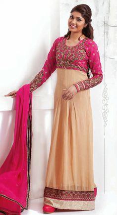 Exquisite Beige & Pink #Salwar #Kameez