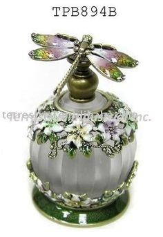 Dragonfly decoration glass perfume bottle