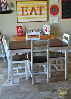 Before and After: Old IKEA Table and Chairs Get a Fresh, New Look » Curbly | DIY Design Community