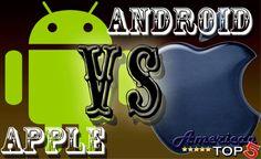 The ultimate tech debate... Android vs. Apple! Vote for your favorite at AmericanTop5.com!