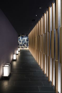 Design Fuchu Architecture Restaurant Line Building - Modern Spa Interior, Lobby Interior, Interior Lighting, Interior Design, Lighting Design, Spa Design, Design Studio, Wall Design, Design Ideas
