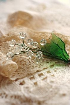 Lily of the Valley in glass... <3