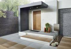 Die Design-Eingangsüberdachung von Siebau