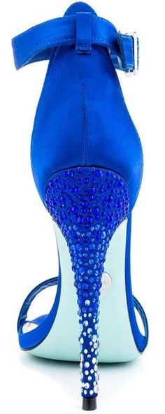 Blue Satin Something Blue By Betsey Johnson