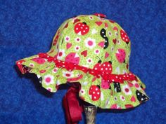 Baby Sunhat with Ladybugs by AdorableandCute on Etsy, $26.00