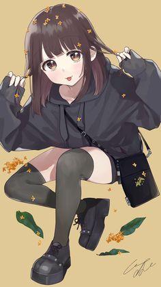 Cute Anime Chibi, Cute Anime Pics, Anime Girl Cute, Anime Neko, Cute Anime Couples, Kawaii Anime Girl, Manga Anime Girl, Anime Girl Drawings, Cartoon Girl Images