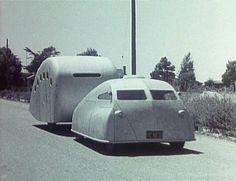1930s futuristc space-age camping rig