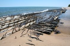 Shipwreck bones in the UP of Michigan