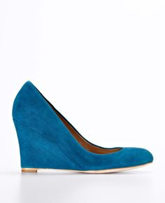 Ann Taylor - AT Shoes View All - Kamela Suede Wedges