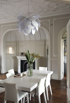 Dining Room | Period Details | Ceiling | Pattern | White | Livingetc Modern  Dining Rooms
