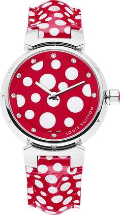 Louis Vuitton Tambour watch by Yayoi Kusama