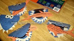My Homemade Invitations: My son decided he wanted to have an underwater shark attack birthday party for his fifth birthday.  I took the idea and ran with it.  First:  I made homemade