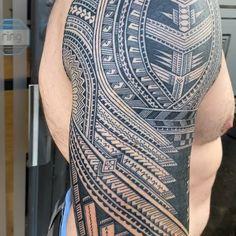 Samoan Tatau inspired sleeve designed and tattooed by Michael Fatutoa