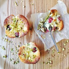 Tartelettes moelleuses framboises-pistaches