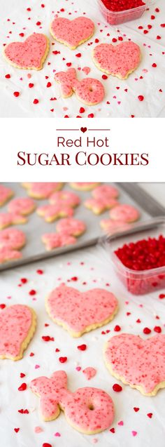 Spice up this year& Valentine sugar cookies with cinnamon. These fun Red Hot Sugar Cookies start with a tender sugar cookie base that& iced with a cinnamon frosting loaded with crushed Red Hot candies. Chocolate Sugar Cookie Recipe, Cinnamon Sugar Cookies, Cinnamon Candy, Sugar Cookie Recipe Easy, Chewy Sugar Cookies, Cookie Recipes, Red Hots Candy, Hot Candy, Best Christmas Cookies