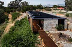 A Rustic House Made Of Hundreds Of Concrete Blocks