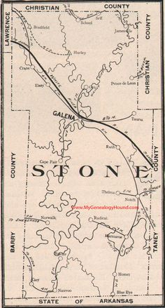 Lawrence County Missouri Map 1904 Mt Vernon Aurora Pierce City