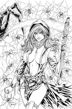 "Grimm Takes of Terror Cover A for Zenescope Entertainment. Pencils on 11"" X 17"" artboard Digtial Inks:   Colored version here: Grimm Tales Of Terror # 2 Cover"