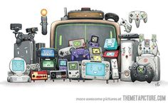 Video game consoles family portrait…