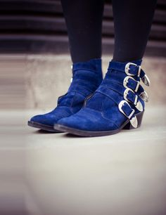 Blue boots via ELLE Wears Spring Summer 2013 | ELLE UK
