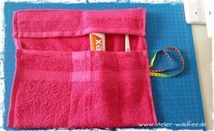 Badutensilo aus Handtuch inkl. Anleitung / Toiletry organizer made of towel incl. tutorial / #Upcycling #diy