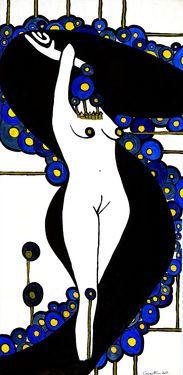 "Saatchi Art Artist Nani Corina; Painting, ""Big Nude II"" #art"