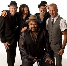 The members of The Mavericks, circa 2012, Jerry Dale McFadden, left, Eddie Perez, Raul Malo, Robert Reynolds and Paul Deakin.