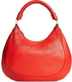 Medium Pebble Calfskin Hobo Purses Red Bags Suede Handbags