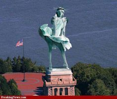 Statue of Liberty meets Marilyn Monroe