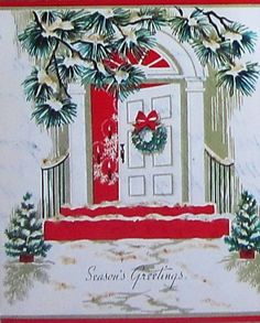Glimpse of Christmas tree through the doorway.