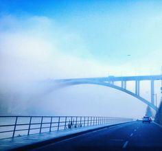 bridge in fog, Porto -Portugal