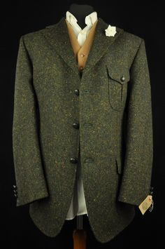 "Vtg DAKS Tweed Speckled Hunting Country Tailored Hacking Jacket harris 44"" MINT 