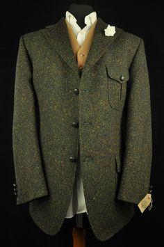 "Vtg DAKS Tweed Speckled Hunting Country Tailored Hacking Jacket harris 44"" MINT | eBay"