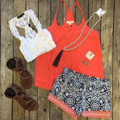 """""""Check out this SUPER CUTE outfit  We #ship  To order, give us a call at 903•322•4316 & we will gladly get you fixed up!  #shopdcs #shoplocal #shopdavis #instashop #instafashion #love #summernights"""" Photo taken by @daviscountrystore on Instagram"""