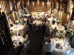 The Tithe Barn in full swing - Wedding Venue in Kent.