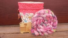 Spinning Kit, 4oz Roving Project Bag and Spinnerzz Gauge from Burning Impressions - Ready to ship Etsy TheWoollyLion