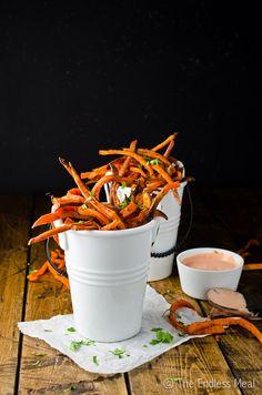 Skinny Sweet Potato Harissa Fries with Harissa Mayo