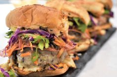 """Another mouthwatering finalist of our 'Get Wild w/ Wild Rice"""" contest: Pork & Beef Wild Rice Hawaiian Sliders, by Chera Little! Vote for this or your fav at link below. Click on photos to see recipes. Voting ends Sept 30. #wildricecontest #rusticfood #wildrice #pork #beef Wild Rice Recipes, Pork Recipes, Hawaiian Sliders, Cooking Contest, Entree Recipes, Pulled Pork, Salmon Burgers, Entrees"""