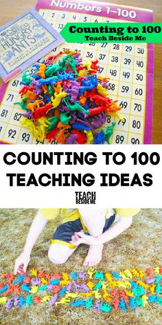 Counting to 100 Teaching Ideas #math #counting #100 Math Activities For Toddlers, Math For Kids, Fun Math, Maths, Fun Learning, Teaching Kids, Homeschool Curriculum, Homeschooling, Counting To 100