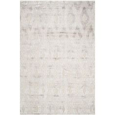 Mercury Row Clune Hand-Knotted Wool Silver Area Rug Rug Size: Rectangle x White Area Rug, Beige Area Rugs, Shed Colours, Oriental Pattern, Contemporary Area Rugs, Contemporary Style, Throw Rugs, All Modern, Rug Size