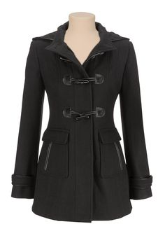 hooded wool coat with toggles - maurices.com