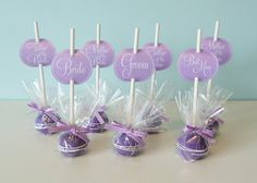 Purple Cake Pop favours by Cakes by Lynz, via Flickr