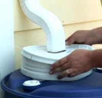 How to build a low cost rainwater collection system.